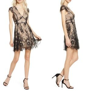 Liano Black Lace Skater Dress As Is